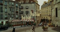 & Julia - Cut of the J & J movie with Meryl Streep only. As the article notes, Amy Adams is a great actress, but you can only do so much with the source material. Julia And Julie, Paris Movie, Film Tips, Nora Ephron, The Danish Girl, Title Card, Film Music Books, Meryl Streep, Filming Locations