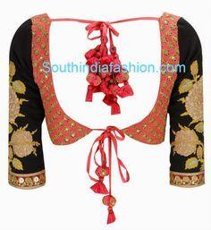 Beautiful Sabyasachi Designer Blouse ~ Celebrity Sarees, Designer Sarees, Bridal Sarees, Latest Blouse Designs 2014