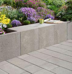 Mauer U-Steine in grau