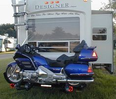 Motorcycle carrier for camper