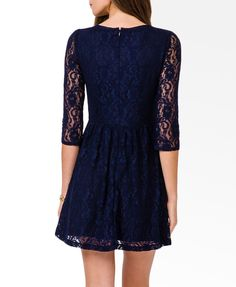 3/4 Sleeve Lace Dress.  At least a tad above the knee, but yes!