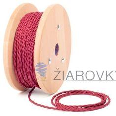 Kábel dvojžilový skrútený v podobe textilnej šnúry v ružovej farbe môže byť krásnym prírastkom do vašej existujúcej lampy, svietidla alebo iného spotrebiča (1)