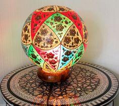 Orientalische Tischlampe Kamelleder Lampe Reich 1001-Nacht Camel Skin Lamp Nr-A
