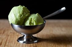 Avocado gelato -- creamy, delicious, and obviously perfect for St. Patrick's Day.