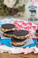 Warm Baked Chocolate Chip Cookie Stuffed Oreos