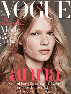 Vogue Germany March 2015 | #AnnaEwers by Luigi + Iango #Covers2015