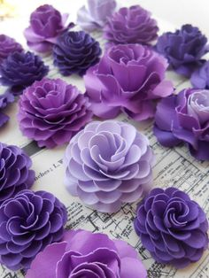Paper Flower Cake Decorations. CHOOSE YOUR by TreeTownPaper, $40.00