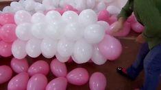 fazendo arco de balão em cano de PVC de 2.5mm 6 m Fácil rápido e pratico...