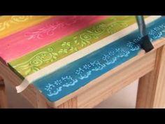 Como aplicar decoupage con servilletas y stencil? Eq Arte - YouTube Decoupage Table, Decoupage Vintage, Eq Arte, Mixed Media Techniques, Stencil Art, Wooden Art, Mandala Art, Pyrography, Craft Videos
