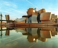 Guggenheim Museum in Blibao, Spain, by architect Frank Gehry: