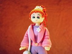 Trendy doll handmade creations in cold porcelain by elagiftidea