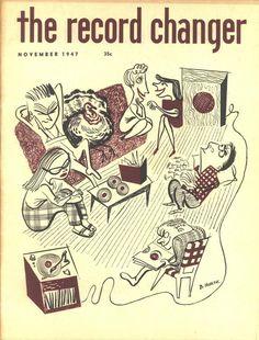 "illustration : ""The Record Changer"", couverture de magazine, novembre 1947"