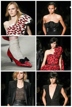 Dorothy called from Kansas. She wants this #brutallychic red pump. But she might also need a little black tuxedo #jacket and leather #skirt to really get it right. #HediSlimane gave the rocker chick a big kiss and lots of options at #SaintLaurent. www.ysl.com #womensfashion #womenswear