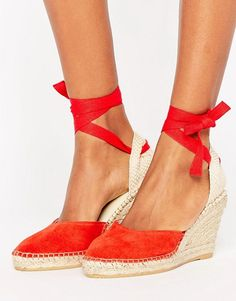 5000fcf3ad2d6b Discover Fashion Online Red Wedge Heels, Red Wedges, Shoes Heels Wedges,  Suede Leather