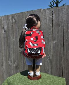 Red Black Doxie Puppy Backpack 18 17 16 15 Inch Doll Girls Boys Kids Baby Doll…