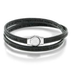 Armbånd i sølv og sort lær Love Bracelets, Cartier Love Bracelet, Bangles, Sort, Accessories, Jewelry, Fashion, Bangle Bracelets, Jewellery Making