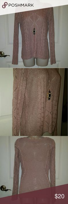Dusty Rose Sweater This patterned sweater is perfect for this fall season!! Pair with booties or some fab heels! Sweaters