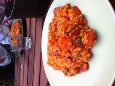 Diner van mijn zoon Risotto, Curry, Drink, Eat, Ethnic Recipes, Food, Curries, Beverage, Essen