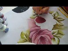 Pintura em Tecido. Pintando folhas, rosas e barrados. Parte 2 - YouTube