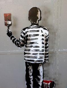 Rene Gagnon stencil street art NYC Kids on Walls — Part III: Joe Iurato, Miss 163, LNY & Axel Void, Rene Gagnon, Ewok, Owns, RWK and more
