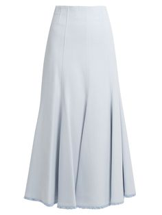 Click here to buy Gabriela Hearst Warren fluted-hem crepe skirt at MATCHESFASHION.COM