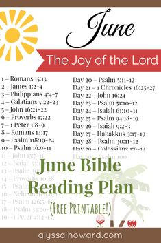 When times are tough, it can be hard to abide in the joy of the Lord. So if you are tired and in need of God's strength, here are 10 Bible verses that declare the joy of the Lord! And be sure to check out this month's free Bible reading plan focusing on His joy. #BibleReadingPlan #Printable