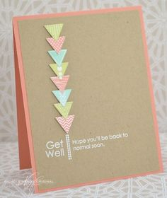 Get Well Soon Card by Nichole Heady for Papertrey Ink (May 2013)