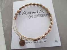 ALEX AND ANI RUSSIAN GOLD INDUS METAL BEADED BANGLE BRACELET #AlexandAni #Bangle