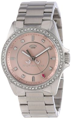 Juicy Couture Women's 1901075 Stella Mini Stainless Steel Bracelet Watch Cool Watches, Watches For Men, Women's Watches, Trendy Watches, Wrist Watches, Fashion Watches, Jewelry Watches, Stainless Steel Watch, Stainless Steel Bracelet