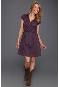 Stetson - Navy Polka Dot Cap Sleeve Dress (Blue) - Apparel $69.99