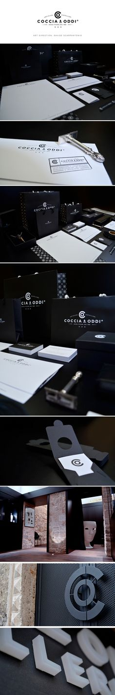 identity / coccia & oddi / jewelery absolutely love how the branding was carried across platforms. that door handle!!!! amazing