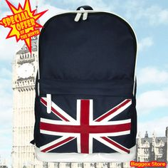 Union Jack UK Backpack School Book Bag Casual Rucksack Special Offer This Month