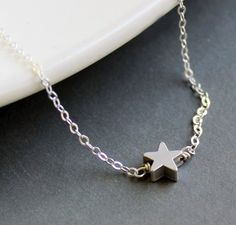 Sterling Silver Jewelry Necklace  Tiny Star  by NewMorningJewelry, $23.50