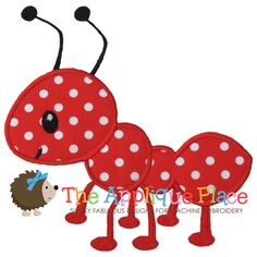 Ant-ant, bug, red ant, boy, applique, picnic