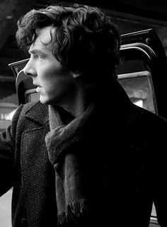 One of my fave black & white photos of Sherlock. jf