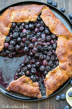 This Blueberry Galette is a delicious dessert that's easier to make than a pie…