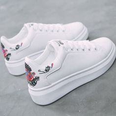 Women sneakers on the platform Embroider white designer sneakers for women heigh. Women sneakers on the platform Embroider white designer sneakers for women heigh. Trendy Shoes, Casual Shoes, Wedge Sneakers, Shoes Sneakers, Platform Sneakers, Girls Sneakers, Women's Shoes, Shoe Boots, Fall Shoes