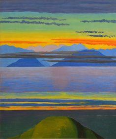 Luigi Russolo (1885-1947), Cielo e lago / Sky and Lake, 1946.