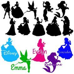 One a day for Disney .. Cricut iron on vinyl personalized Disney princess shirt