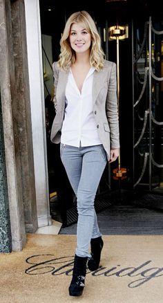 Rosamund Pike Элегантно Повседневный, Красивые Женщины, Уличный Стиль,  Высокие Люди, Актрисы, 40049978c52