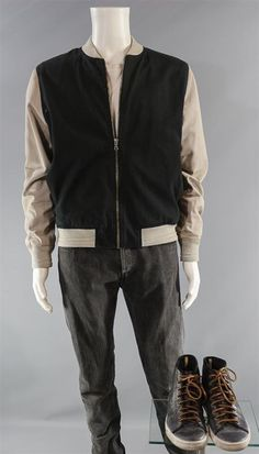 This isBaby's (Ansel Elgort) Screen Worn Wardrobe Set. Item: Zip-Front Jacket, Short Sleeve T-Shirt, Button-Front Pants & Lace-Up Shoes. Baby Driver. The components of this wardrobe set have been previously worn during production. | eBay!