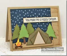 In the Wilderness Background, Roughing It, Roughing It Die-namics - Barbara Anders #mftstamps