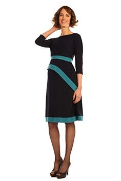 6490d2b7364 Japanese Weekend da Maternity And Nursing Luxe Jersey Darling Dress  NavyTeal XLarge >>> Want