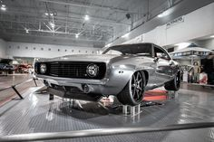 """Were you lucky enough to see this car in person at the 2017 #TorontoMotorama, where it earned a top 10 finish and took home 2nd in the Pro-Touring class? Steve's """"INTENSE"""" '69 #Camaro is powered by a 800HP Edelbrock-Supercharged LS7 mated to a T56 Magnum transmission and rides on Detroit Speed front suspension, and 19x8.5/20x12 #Forgeline #CV3C wheels finished with Satin Black centers & Gloss Black outers! See more at: http://www.forgeline.com/customer_gallery_view.php?cvk=1868 #Chevy"""