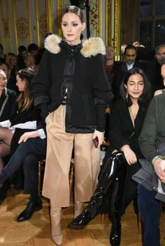 Olivia Palermo attends the John Galliano show as part of the Paris Fashion Week Womenswear Fall/Winter 2018/2019 on March 4 2018 in Paris France