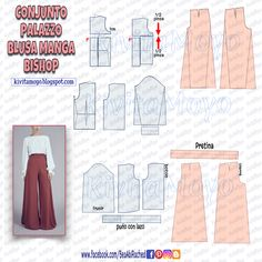 Dress Sewing Patterns, Doll Patterns, Sewing Clothes, Diy Clothes, Palazzo, Barbie, Make Your Own Clothes, Sewing Basics, Fashion Sewing