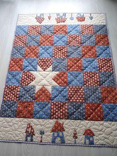 Quilts & Patchwork - Patchworkdecke,Kinder Quilt - ein Designerstück von Aksiny bei DaWanda