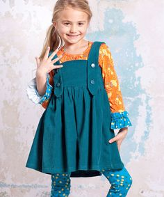 Take a look at this Teal Agra Ollay Jumper - Infant, Toddler & Girls on zulily today!