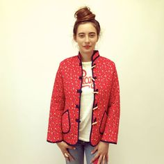 Fruit Tree Jacket // vintage 70s quilted hippy by FenixVintage