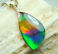 Shows how spectacular rare top grade ammolite from Alberta Canada can be!